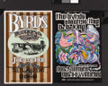 Music Memorabilia:Posters, The Byrds Concert Poster BG-96 and BG-177 Group (Bill Graham,1967-69). The Byrds, reduced to trio status, had seen better ...(Total: 2 Items Item)