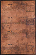 Colonial Notes:New Hampshire, Copper Printing Plate New Hampshire June 20, 1775 40s; 20s; 6s;1s.. ...