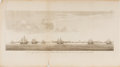 Art:Illustration Art - Mainstream, [Engraving]. George Anson. A View of Part of the N.E. Side ofTerra del Fuego and the Entrance of Streights le Maire...