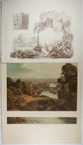 Art:Illustration Art - Mainstream, [Lithographs]. Robert and William Havell. A Series ofPicturesque Views of the River Thames from the Drawings of WHavel...