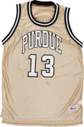 Basketball Collectibles:Uniforms, 1994 Glenn Robinson Game Worn Purdue Boilermakers Jersey....
