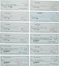 Autographs:Checks, 2000's Stan Musial Signed Checks Lot of 12....
