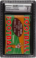 Football Cards:Unopened Packs/Display Boxes, 1954 Bowman Football 1-Cent Wax Pack GAI NM 7. ...