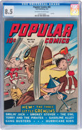 Golden Age (1938-1955):Cartoon Character, Popular Comics #85 (Dell, 1943) CGC VF+ 8.5 Off-white to whitepages....