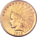 Indian Eagles, 1915-S $10 MS64 PCGS. CAC....
