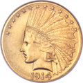 Indian Eagles, 1914 $10 MS64 NGC....