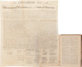 Books:Americana & American History, William Stone. Declaration of Independence. SC Washn., [n.d., ca. 1848]. Printed on rice paper. Approximately 29 x 25.75 inc... (Total: 9 Items)