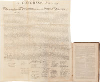 William Stone. Declaration of Independence. SC Washn., [n.d., ca. 1848]. Printed on rice paper. Approximately 29 x 25
