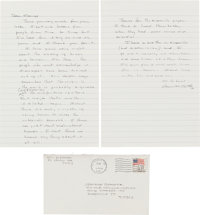 Cormac McCarthy. Autograph Letter Signed. [El Paso, TX, 8 Feb 1988]. One and one-half octavo pages on two ruled octav
