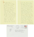 Books:Literature 1900-up, Cormac McCarthy. Autograph Letter Signed. [El Paso, TX, 5 Jan 1988]. Two octavo pages on two yellow ruled octavo leaves. App...
