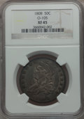 Bust Half Dollars, 1808 50C O-105, R.3 XF45 NGC. NGC Census: (60/255). PCGS Population(65/269). Mintage: 1,368,600. Numismedia Wsl. Price for...
