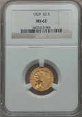 Indian Quarter Eagles: , 1929 $2 1/2 MS62 NGC. NGC Census: (7296/8648). PCGS Population(4191/5471). Mintage: 532,000. Numismedia Wsl. Price for pro...
