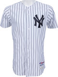 Baseball Collectibles:Uniforms, 2013 Ichiro Suzuki Game Worn New York Yankees Jersey....