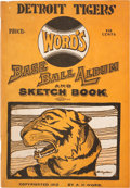 Baseball Collectibles:Others, 1912 Detroit Tigers Word's Base Ball Album and Sketch Book....