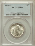 Standing Liberty Quarters: , 1926-D 25C MS64 PCGS. PCGS Population (1464/212). NGC Census:(961/273). Mintage: 1,716,000. Numismedia Wsl. Price for prob...