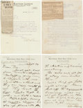 Autographs:Letters, Early 1910's Ed Barrow Signed Letters Lot of 3....