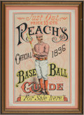 Baseball Collectibles:Others, 1896 Reach Official Base Ball Guide Advertising Sign....
