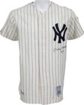 """Baseball Collectibles:Uniforms, 1990's Mickey Mantle """"No. 7"""" Signed New York Yankees Upper DeckAuthenticated Jersey...."""