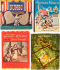 Memorabilia:Disney, Disney Related Story Book Group (Various Publishers, 1930s-80s).... (Total: 9 Items)