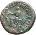 Ancients:Roman Imperial, Ancients: Titus (AD 79-81). Orichalcum sestertius (33mm, 26.90 gm,6h). ...