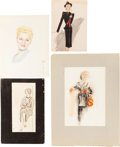 Original Comic Art:Illustrations, Vintage Fashion Illustration Original Art Group (1910s-70s)....(Total: 29 Original Art)
