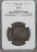 Bust Half Dollars: , 1830 50C Small 0 XF40 NGC. NGC Census: (114/1503). PCGS Population(154/1261). Mintage: 4,764,800. Numismedia Wsl. Price fo...