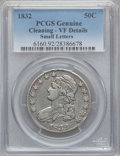 Bust Half Dollars: , 1832 50C Small Letters -- Cleaned -- PCGS Genuine. VF Details. NGCCensus: (20/1997). PCGS Population (20/2115). Mintage: 4...