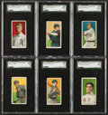 Baseball Cards:Lots, 1909-11 T206 Piedmont Tobacco SGC Graded Group (6) With Collins....