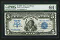 Large Size:Silver Certificates, Fr. 271 $5 1899 Silver Certificate PMG Choice Uncirculated 64 Net.. ...