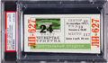 """Hockey Collectibles:Others, 1972 Summit Series Game 6 Full Ticket - """"The Slash"""" Game (PSA Pop 1/1)...."""