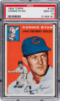 Baseball Cards:Singles (1950-1959), 1954 Topps Connie Ryan #136 PSA Gem Mint 10 - Pop One of One! ...