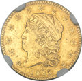 Early Quarter Eagles, 1825 $2 1/2 -- Damaged -- NGC Details. AU. BD-2, High R.4....