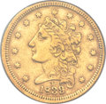 Classic Quarter Eagles, 1839-D $2 1/2 XF40 PCGS. Winter 1-A, Variety 26, R.3....