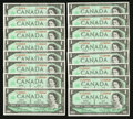 Canadian Currency: , High-Grade $1 1967 Notes Part I.. ... (Total: 147 notes)
