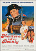 "Movie Posters:Adventure, Mutiny on the Bounty (MGM, R-1970s). German A1 (23"" X 33"").Adventure.. ..."