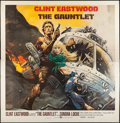 """Movie Posters:Action, The Gauntlet (Warner Brothers, 1977). Six Sheet (77"""" X 77""""). Flat Folded. Action.. ..."""