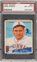 Baseball Cards:Singles (1930-1939), 1934 Goudey Mark Koenig #56 PSA NM-MT 8....