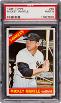 Baseball Cards:Singles (1960-1969), 1966 Topps Mickey Mantle #50 PSA Mint 9 - None Higher. ...