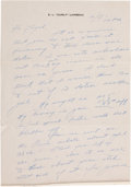 Football Collectibles:Others, Curly Lambeau Handwritten Signed Letter - February 17, 1965 (Green Bay Packers Famed Coach)....