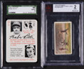"Baseball Cards:Singles (1940-1949), 1929 Churchman's and 1945 Leister ""Autographs"" Babe Ruth Cards. ..."