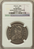 Bust Half Dollars, 1824/4 50C -- Improperly Cleaned -- NGC Details. VF. O-109. NGCCensus: (0/119). PCGS Population (8/145)....