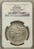 Morgan Dollars, 1899 $1 -- Harshly Cleaned -- NGC Details. AU. NGC Census:(55/8284). PCGS Population (105/10843). Mintage: 330,846. Numism...