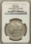 Morgan Dollars, 1899 $1 -- Improperly Cleaned -- NGC Details. VF. NGC Census:(7/8469). PCGS Population (24/11192). Mintage: 330,846. Numis...