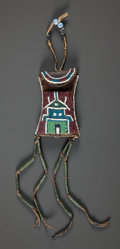 American Indian Art:Beadwork and Quillwork, A KIOWA BEADED LEATHER STRIKE-A-LIGHT BAG. c. 1885...