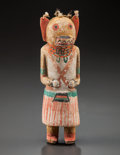 American Indian Art:Kachina Dolls, A HOPI COTTONWOOD KACHINA DOLL. c. 1900...