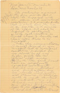 Golf Collectibles:Autographs, 1963 Bobby Jones Three-Page Handwritten & Signed Contract forHis Personal Secretary....
