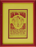 Music Memorabilia:Posters, Northern California Folk-Rock Festival Handbill (1968). ArtNouveau-style graphics decorate this red on yellow handbill. Am...(Total: 1 Item)