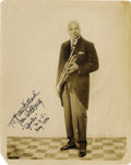 """Music Memorabilia:Autographs and Signed Items, W.C. Handy Signed Photo. A vintage b&w 8"""" x 10"""" photo of the""""Father of the Blues,"""" inscribed, dated May 1936, and signed by...(Total: 1 Item)"""
