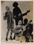 """Music Memorabilia:Autographs and Signed Items, Nicholas Brothers Signed Photo. A vintage b&w 8"""" x 10"""" promophoto for Big Broadcast of 1936, inscribed and signed byHa... (Total: 1 Item)"""