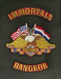 Movie/TV Memorabilia:Memorabilia, Peter Fonda's Bangkok Immortal MC Patches. A set of BangkokImmortals Motorcycle Club patches presented to Peter Fonda by th...(Total: 1 Item)